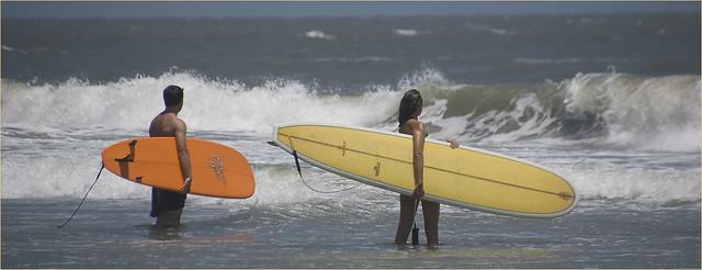 Folly beach, Charleston SC, Surfing