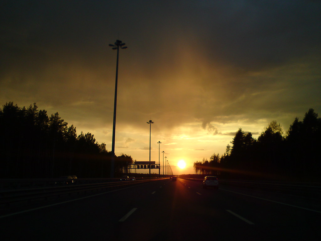Закат на КАД // Sunset over ring-road