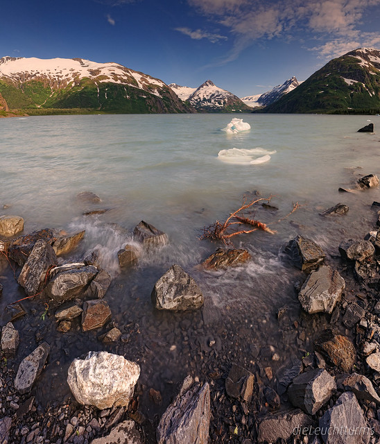 Last ice from Portage Glacier this summer