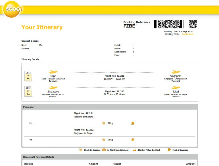 酷航(Scoot)網路訂票分享   TERESA的旅遊筆記