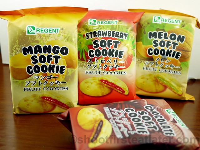 Regent Soft Cookies in mango, strawberry, melon & chocolate