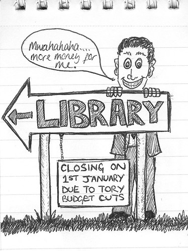 Library Cuts doodle