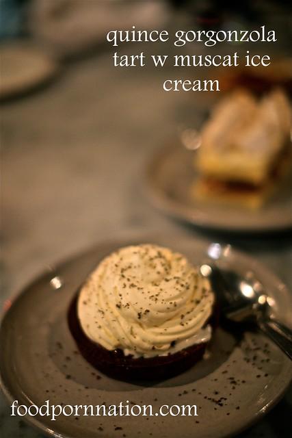 quince gorgonzola tart