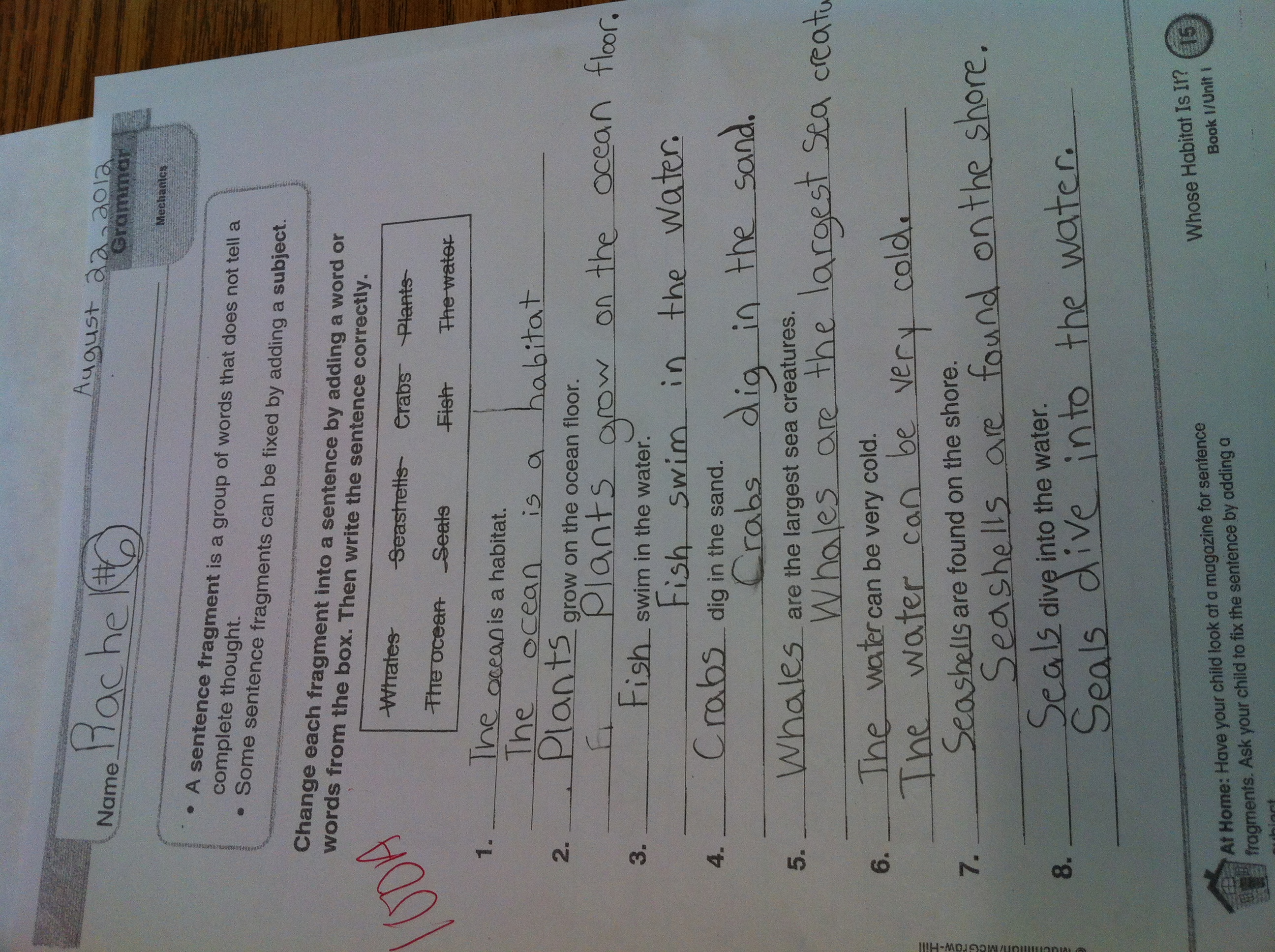 Sentence Fragment Worksheet Explore Wesley Fryer S Photos Flickr