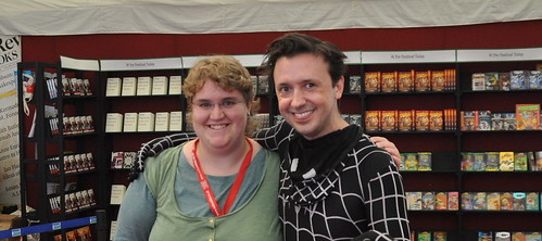 Steve Cole and fan
