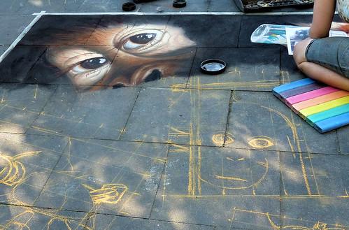 Straßenmalerei Geldern