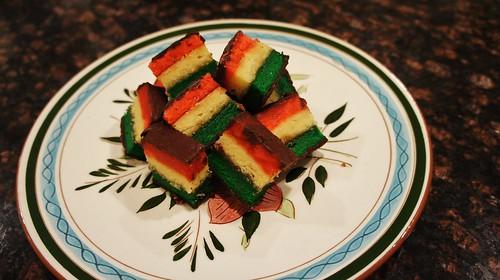 Marzipan Rainbow Cookies