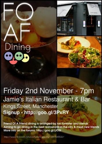 foaf dining: Jamie's Italian