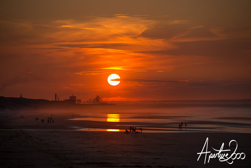 Sunset over Saltburn by TheApertureMan