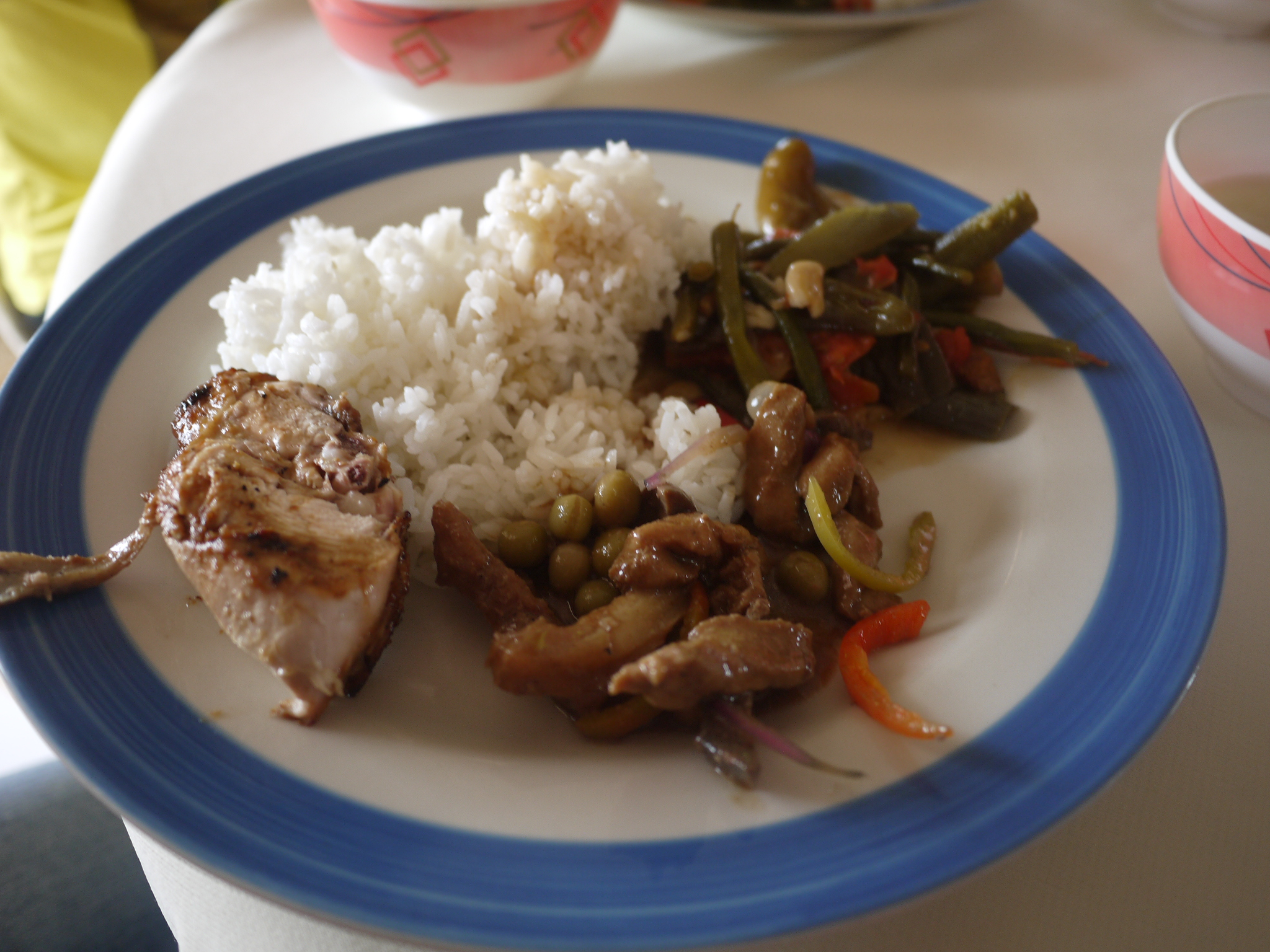 Ilocano food -- Grilled chicken, pinakbet and igado