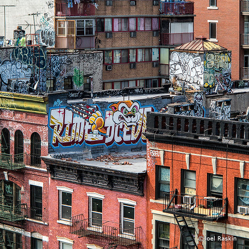 Rooftop Graffiti by Joel Raskin