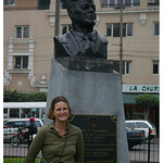 Jenn with JFK in Lima