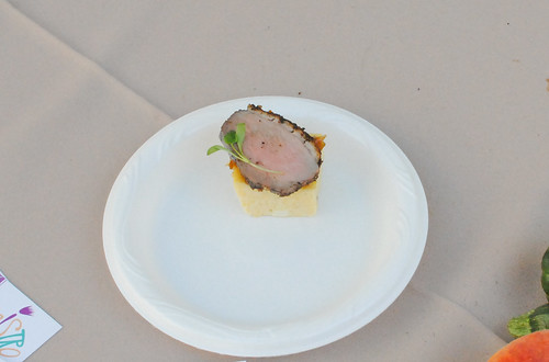 Bistro 45 za'atar dusted duck, honey dates, goat cheese polenta