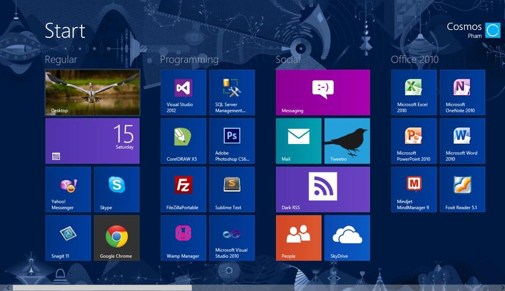 Màn hình Start của Windows 8