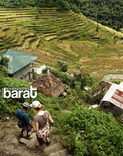 Hiking in batad village