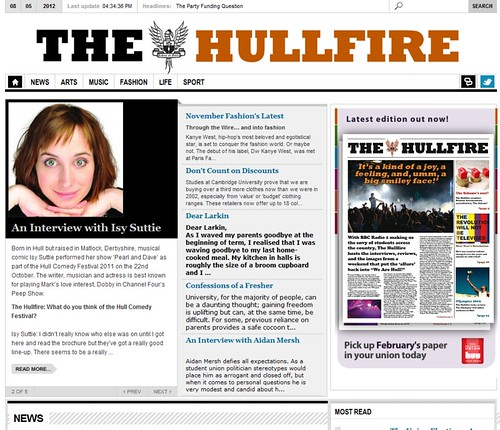 """The """"Old"""" Hullfire Website"""