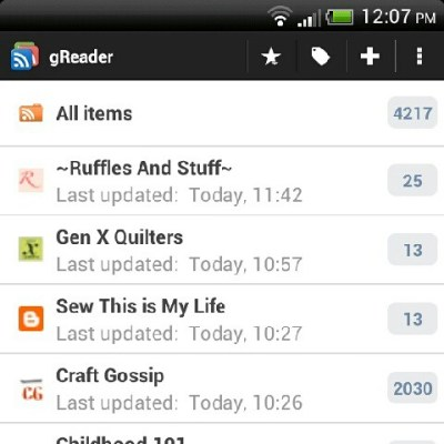 "Definitely time to ""mark all as read"" and clean out my reader!! by Flutter from.Kat (Mummastimetocreate)"