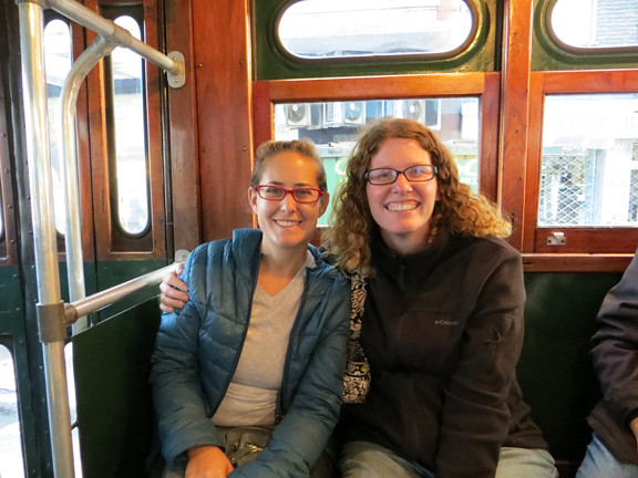 Jamie and me on streetcar