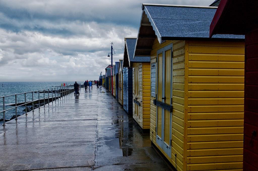 Beach huts at Sherringham