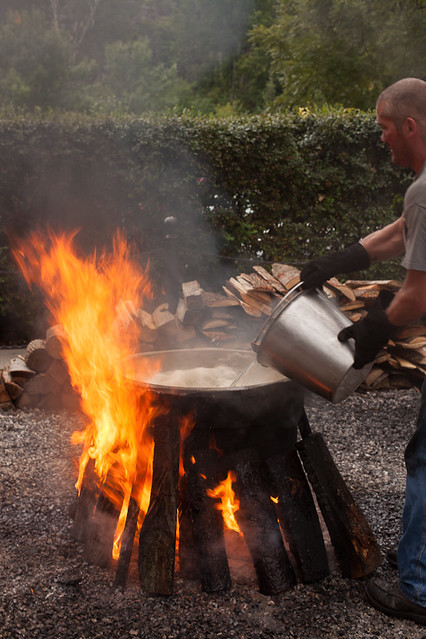 Traditional Fish Boil - Begin with Potatoes