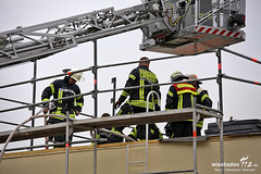 Feuer nach Dacharbeiten Klarenthal 05.09.12