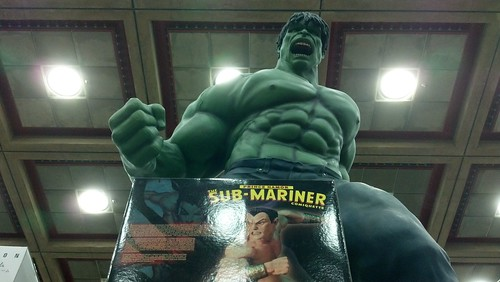 Giant Incredible Hulk Statue at Baltimore Comic-Con 2012