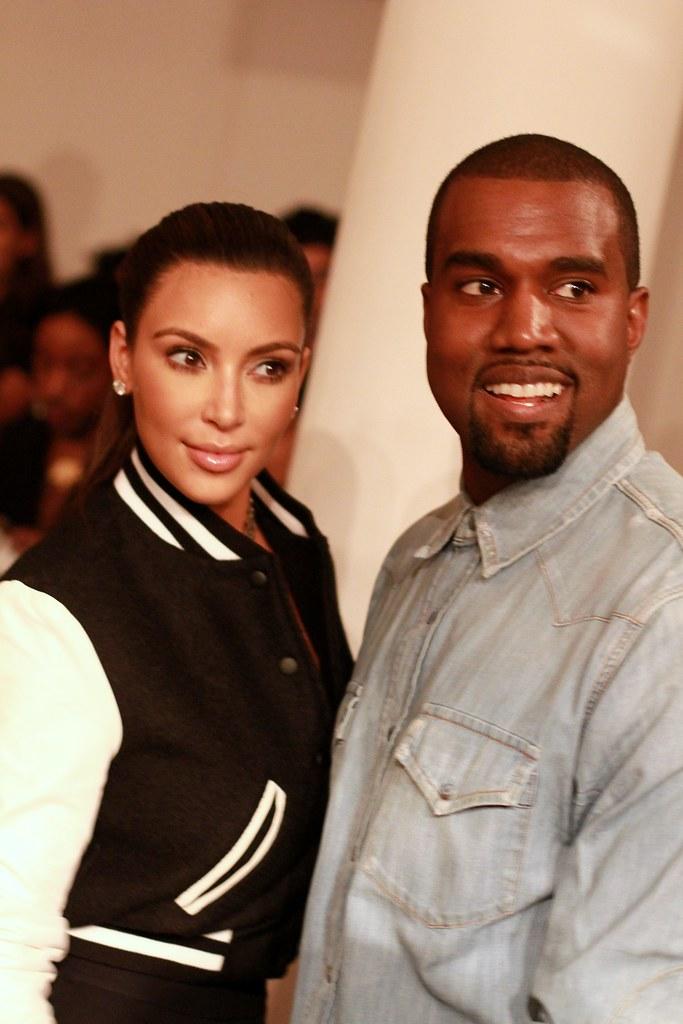 Sneak Peek NYFW SS13: Kim & Kanye at Louise Goldin