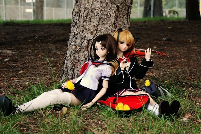 Haruka with Airi-chan