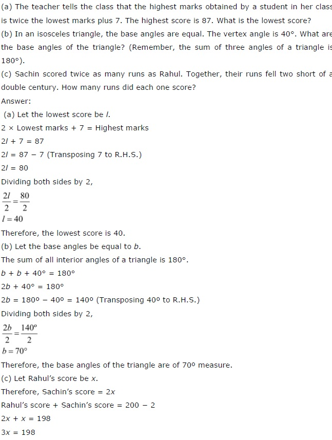 NCERT CBSE Solutions for Class 7 Simple Equations Exercise 4.4