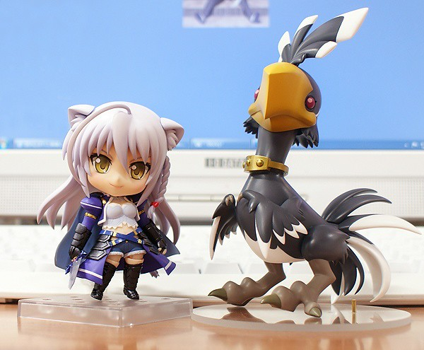 Nendoroid Leonmitchelli and her chocobo