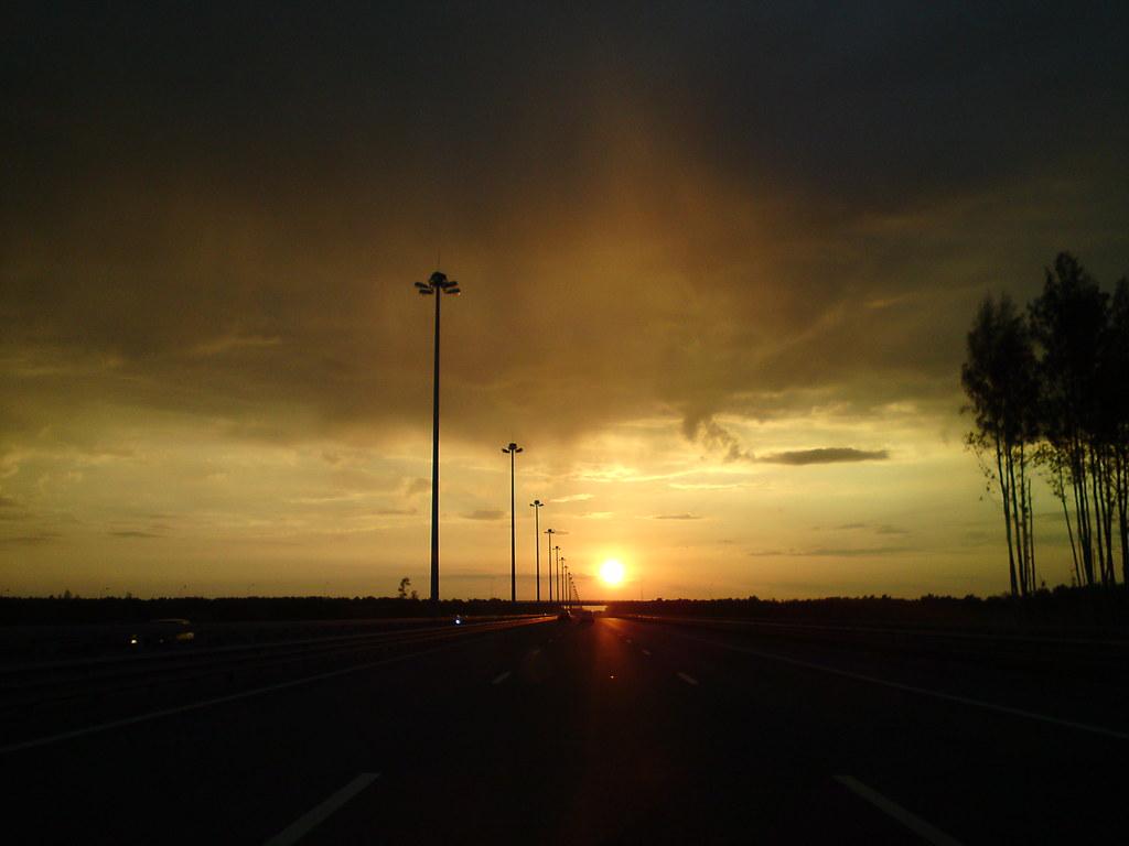 Закат на КАД // Sunset over ring-road