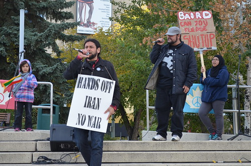 Hands Off Iran! Peace Rally