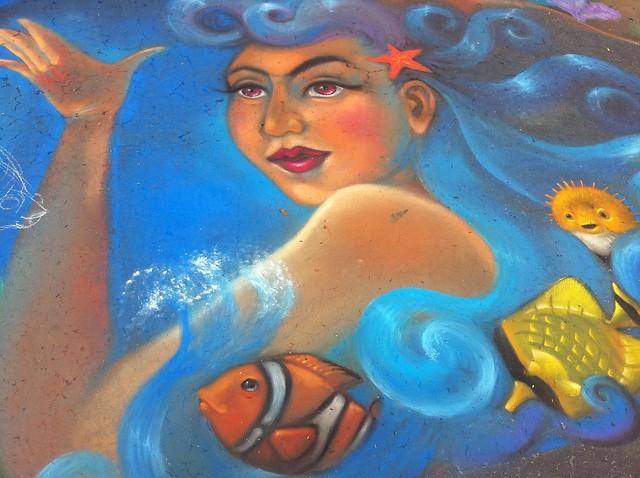chalk mermaid