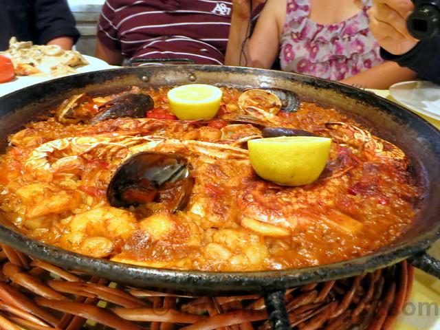 La Fonda Del Port Olimpic- paella de marico (fisherman's paella)