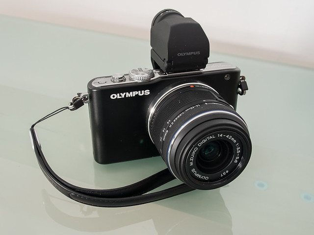 Olympus E-PL3 with 14-42 kit lens