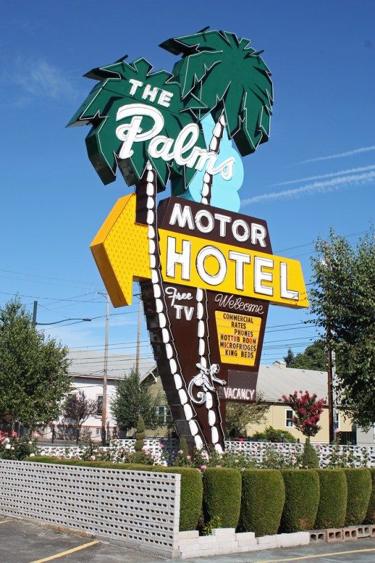 The Palms Motor Hotel - 3801 North Interstate Avenue, Portland, Oregon U.S.A. - September 29, 2012