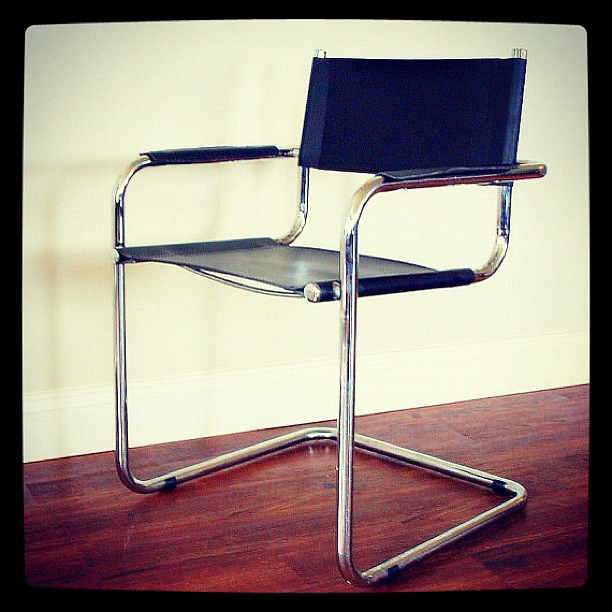 mart stam chair animal rocking mod style vintage mid century modern furniture cantilever black leather seat tubular ...