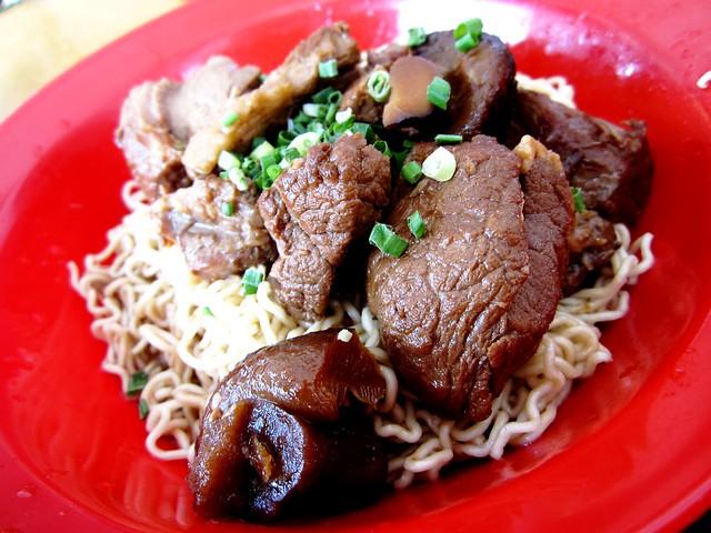 Pork leg noodles Kuching