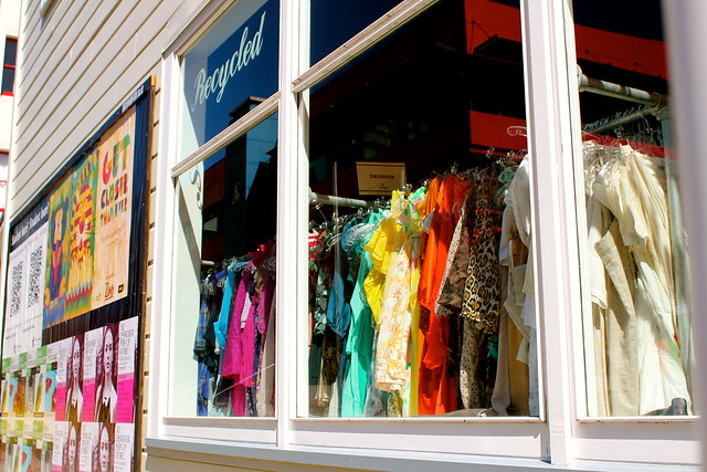 Saturday: rainbow at Recycle Boutique
