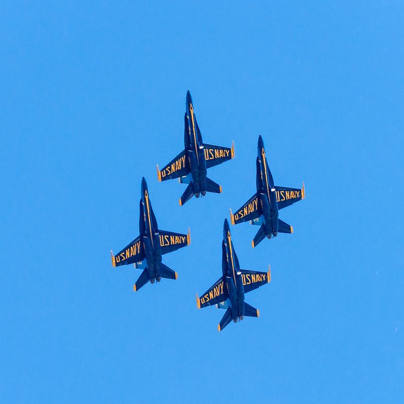 Blue Angels tight diamond formation