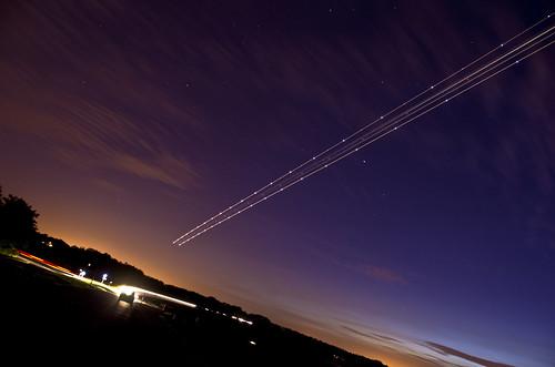 Plane passes Arcturus