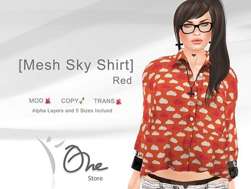 Mesh Sky Shirt Red