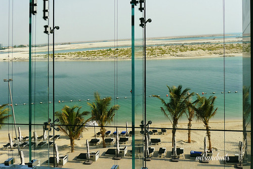 View from The Lobby in Etihad Towers, Abu Dhabi