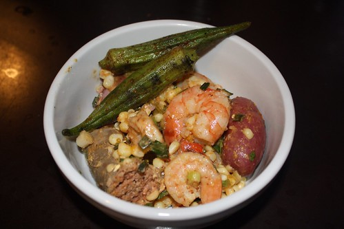 Shrimp Boil Potato Salad + Grilled Okra