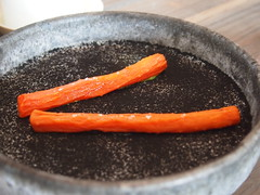 Dried carrot and sorrel