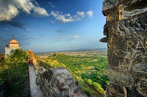 View from the Bhujio fort, Bhujio Hill, Bhuj, Kutch, Gujarat by Jayesh Bheda