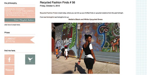 Black & White :: Featured @ Recycled Fashion Finds!!