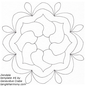 Mandala template #6