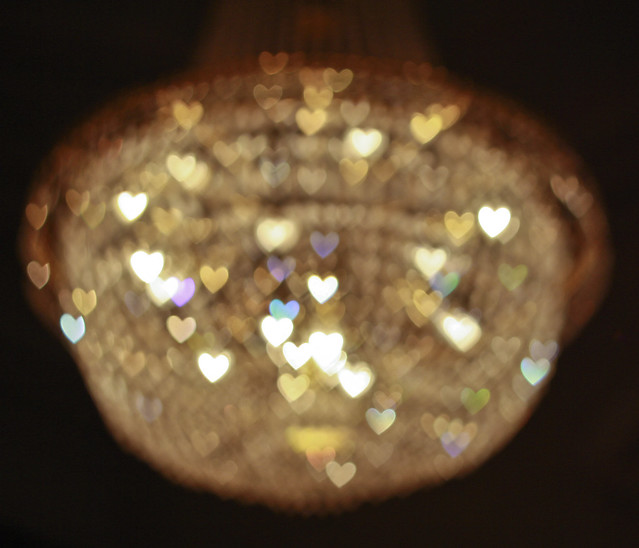 Love Heart Chandelier - Down Hall Country House Hotel
