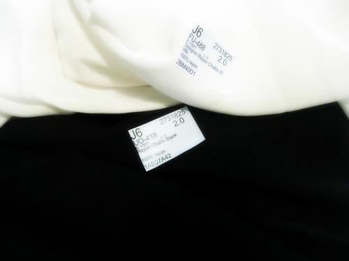 Black & White Rayon Challis